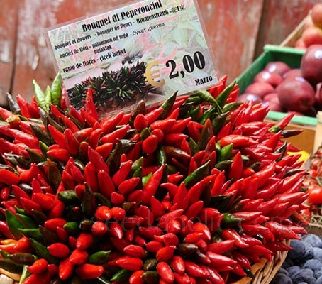 Pepper, Chili Pepper 'Piccante a Mazzetti'